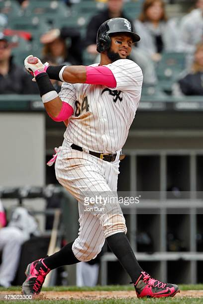 Emilio Bonifacio of the Chicago White Sox at bat against the Cincinnati Reds during the sixth inning on May 10 2015 at US Cellular Field in Chicago...