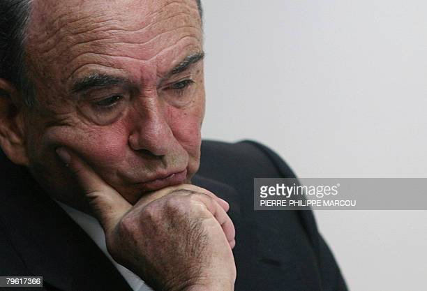 Emilio Botin Chairman of Spanish banking group Santander Central Hispano listens at a results conference in Madrid 07 February 2008 Santander Spain's...