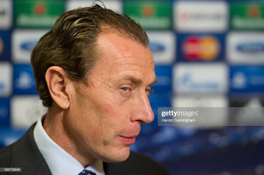 Emilio Butragueno, Real Madrid CF Director, looks on after the UEFA Champions League quarter finals draw at the UEFA headquarters on March 15, 2013 in Nyon, Switzerland.