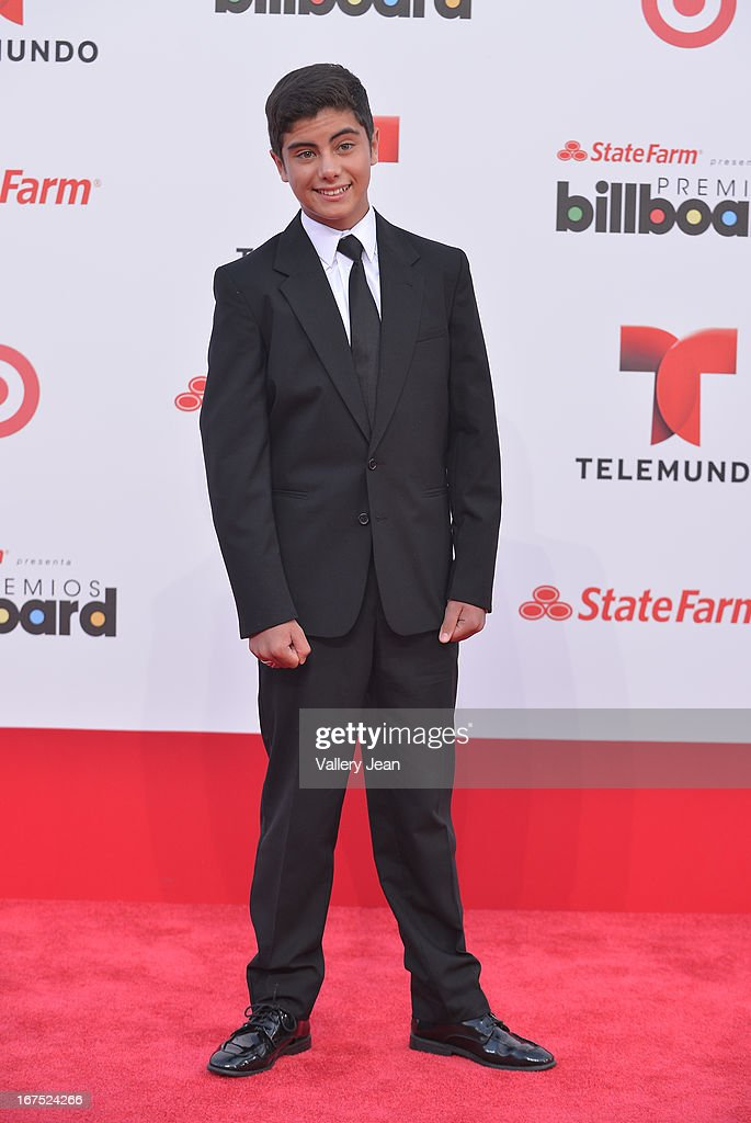 Emilio Caballero arrives at Billboard Latin Music Awards 2013 at Bank United Center on April 25, 2013 in Miami, Florida.
