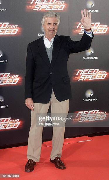 Emilio de Villota attends 'Need for speed' premiere photocall at Callao cinema on April 1 2014 in Madrid Spain
