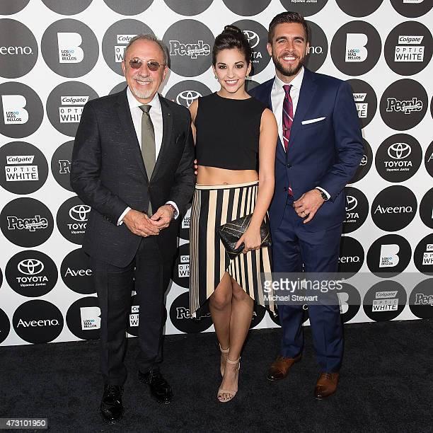 Emilio Estefan Ana Villafane and Josh Segarra attend People En Espanol's '50 Most Beautiful' 2015 Gala at the IAC Building on May 12 2015 in New York...