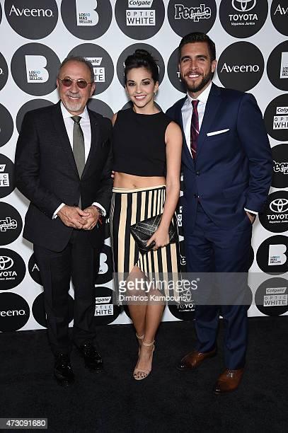 Emilio Estefan Ana Villafane and Josh Segarra attend the People En Espanol's '50 Most Beautiful' 2015 Gala on May 12 2015 in New York City