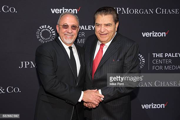 Emilio Estefan and Don Francisco attend the 2016 Paley Center for Media's Tribute To Hispanic Achievements In Television at Cipriani Wall Street on...