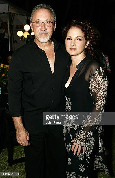 Emilio Estefan and Gloria Estefan during Tropical 5K Benefiting Community Partnership For Homeless May 12 2006 at Star Island in Miami Beach Florida...
