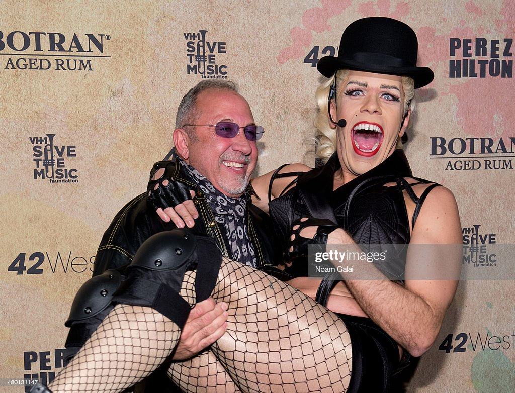 <a gi-track='captionPersonalityLinkClicked' href=/galleries/search?phrase=Emilio+Estefan&family=editorial&specificpeople=210517 ng-click='$event.stopPropagation()'>Emilio Estefan</a> and <a gi-track='captionPersonalityLinkClicked' href=/galleries/search?phrase=Perez+Hilton&family=editorial&specificpeople=598309 ng-click='$event.stopPropagation()'>Perez Hilton</a> attend <a gi-track='captionPersonalityLinkClicked' href=/galleries/search?phrase=Perez+Hilton&family=editorial&specificpeople=598309 ng-click='$event.stopPropagation()'>Perez Hilton</a>'s 36th Birthday 'Madonnathon' at 42West on March 22, 2014 in New York City.