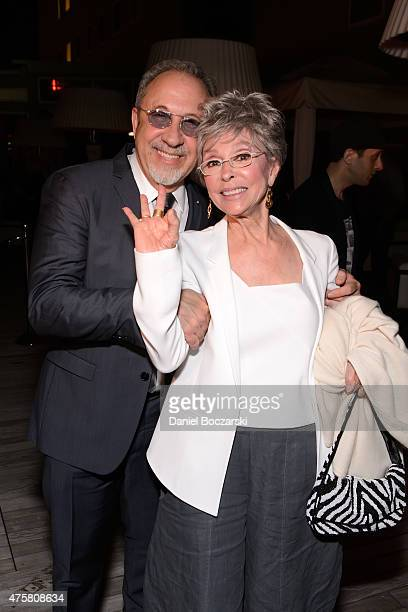 Emilio Estefan and Rita Moreno attend as Botran Rum celebrates the Chicago premiere Of Emilio and Gloria Estefan's On Your Feet musical at The...