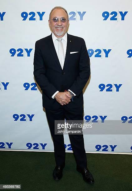 Emilio Estefan attends Gloria and Emilio Estefan in conversation with Rita Moreno at 92nd Street Y on October 19 2015 in New York City