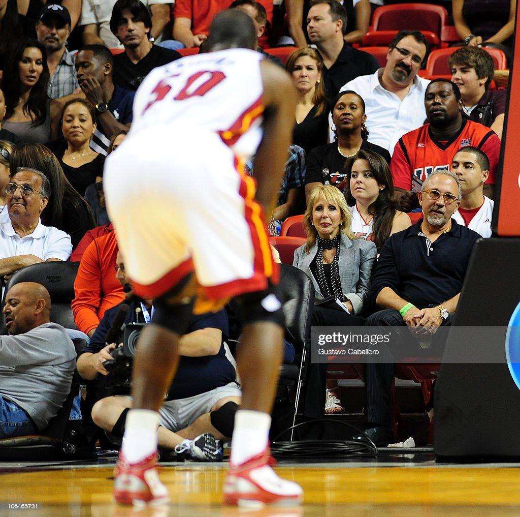 Mi miami heat hoopshype - Miami Heat Players 2010 Emilio Estefan Attends Miami Heat Vs Minnesota Timberwolves Game At Americanairlines