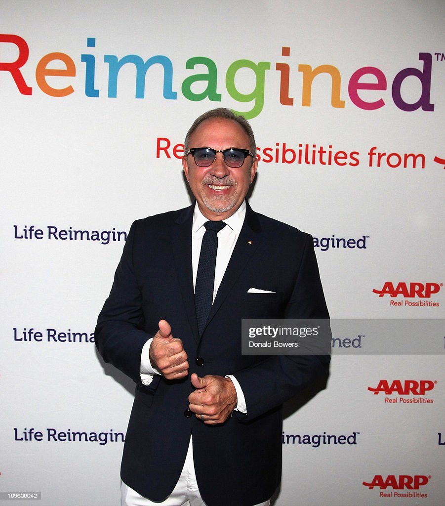 Emilio Estefan attends The Launch of AARP's 'Life Reimagined' hosted by Emilio Estefan and Dan Marino at La Bottega Trattoria at The Maritime Hotel on May 28, 2013 in New York City.