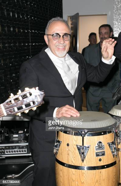 Emilio Estefan celebrate his birthday during grand opening of the Estefan Kitchen restaurant at the Palm Court in the Design District on March 3 2017...