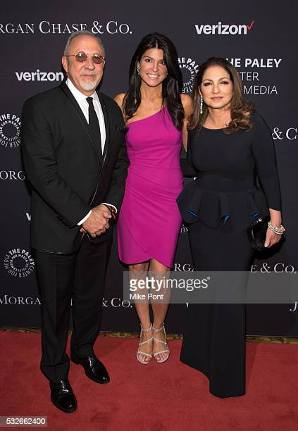 Emilio Estefan Gloria Estefan and President and CEO of The Paley Center for Media Maureen J Reidy attends the 2016 Paley Center for Media's Tribute...