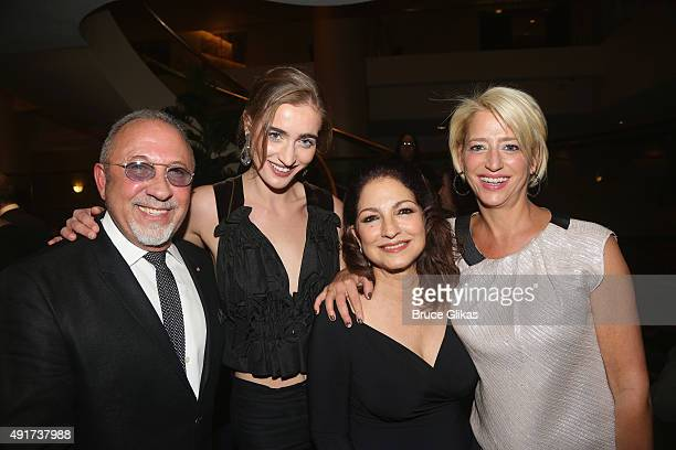 Emilio Estefan Hannah Lynch Gloria Estefan and Dorinda Medley attend a special performance of ON YOUR FEET The Story Of Emilio Gloria Estefan...