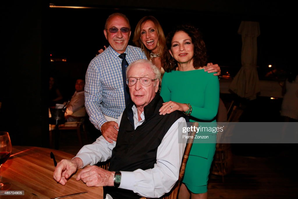 <a gi-track='captionPersonalityLinkClicked' href=/galleries/search?phrase=Emilio+Estefan&family=editorial&specificpeople=210517 ng-click='$event.stopPropagation()'>Emilio Estefan</a>, <a gi-track='captionPersonalityLinkClicked' href=/galleries/search?phrase=Lili+Estefan&family=editorial&specificpeople=751373 ng-click='$event.stopPropagation()'>Lili Estefan</a> and <a gi-track='captionPersonalityLinkClicked' href=/galleries/search?phrase=Michael+Caine+-+Actor&family=editorial&specificpeople=159746 ng-click='$event.stopPropagation()'>Michael Caine</a> and <a gi-track='captionPersonalityLinkClicked' href=/galleries/search?phrase=Gloria+Estefan&family=editorial&specificpeople=201703 ng-click='$event.stopPropagation()'>Gloria Estefan</a> seen at Seasalt and Pepper restaurant on April 19, 2014 in Miami, Florida.