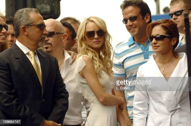 Emilio Estefan Lindsay Lohan Carlos Ponce and Gloria Estefan