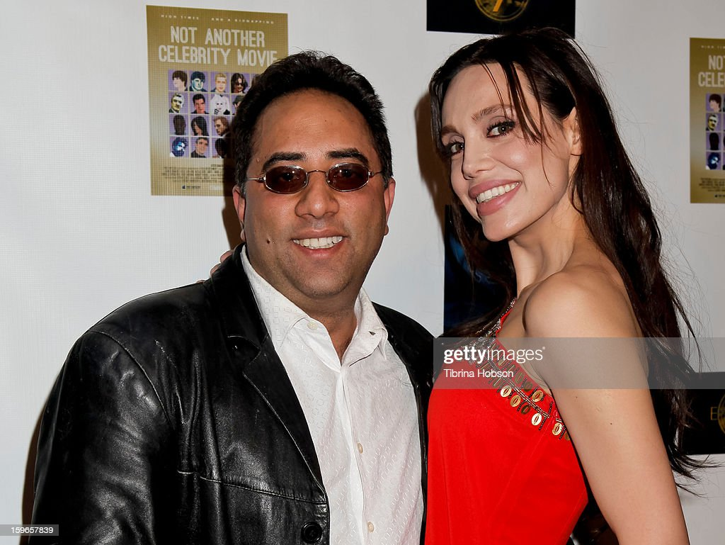 Emilio Ferrari and Nicole Lari-Joni attend the 'Not Another Celebrity Movie' Los Angeles premiere at Pacific Design Center on January 17, 2013 in West Hollywood, California.