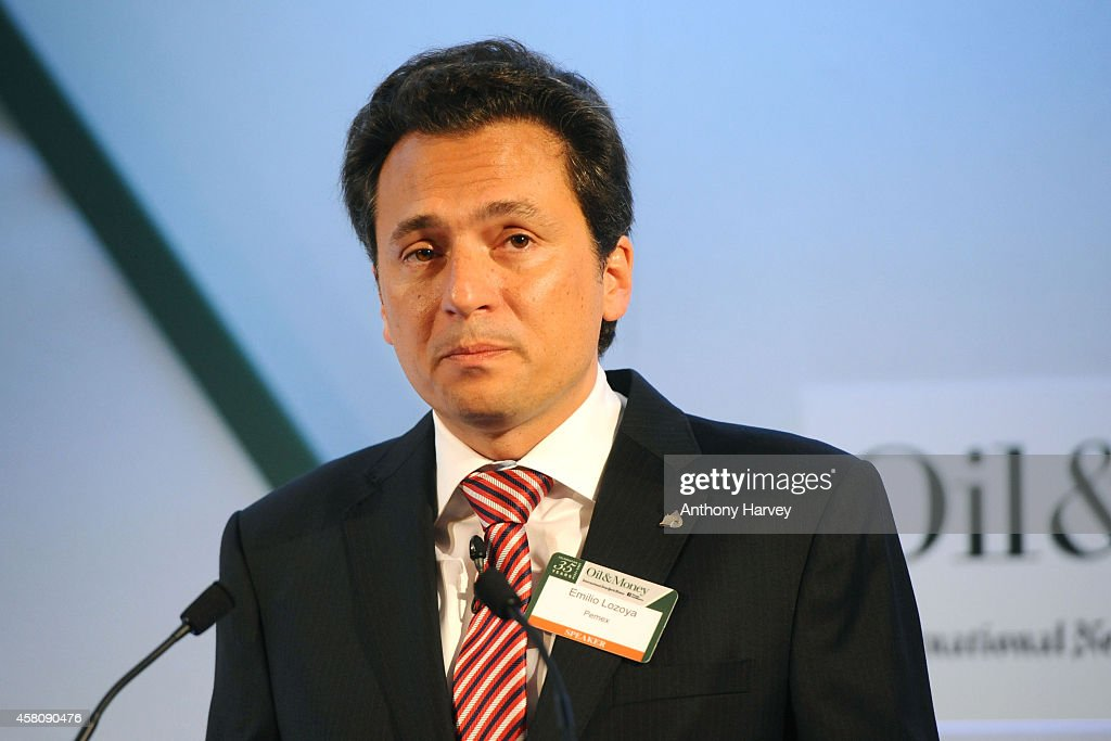 Emilio Lozoya Austin CEO of Pemex appears on stage during the INYT/Energy Intelligence Oil Money Conference Day 2 on October 30 2014 in London England