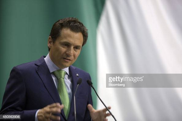 Emilio Lozoya chief executive officer of Petroleos Mexicanos speaks during a session of the lower house of the Mexican Congress in Mexico City Mexico...