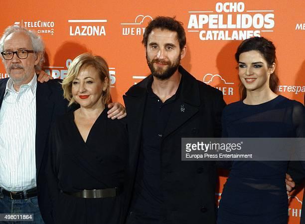 Emilio Martinez Lazaro Carmen Machi Dani Rovira and Clara Lago attend 'Ocho Apellidos Catalanes' photocall on November 19 2015 in Barcelona Spain