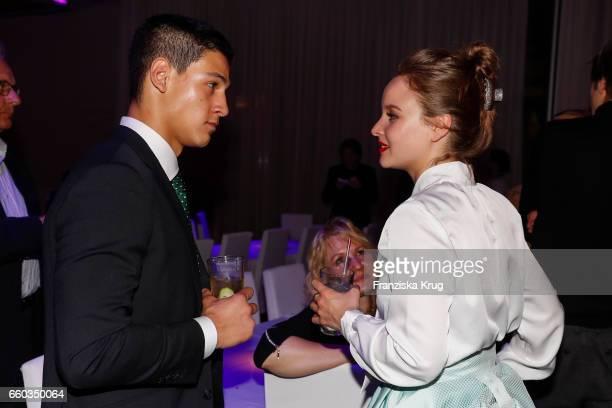 Emilio Sakraya and Sonja Gerhardt attend the Jupiter Award at Cafe Moskau on March 29 2017 in Berlin Germany