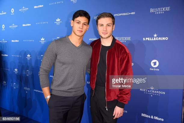 Emilio Sakraya Moutaoukkil and Jannik Schuemann attend the Blue Hour Reception hosted by ARD during the 67th Berlinale International Film Festival...