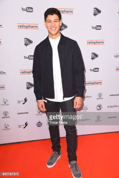 Emilio Sakraya Moutaoukkil attends the 99FireFilmsAward at Admiralspalast on February 16 2017 in Berlin Germany