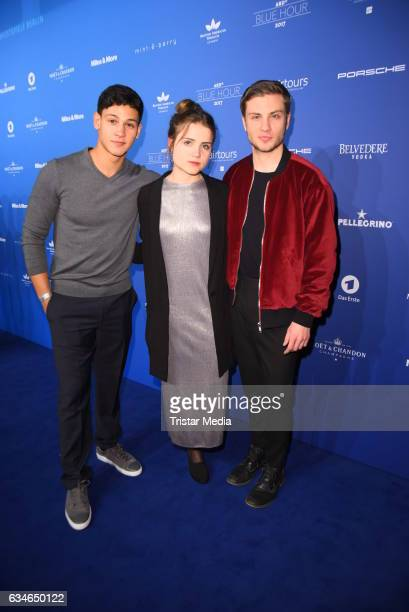 Emilio Sakraya Moutaoukkil Mala Emde and Jannik Schuemann attend the Blue Hour Reception hosted by ARD during the 67th Berlinale International Film...