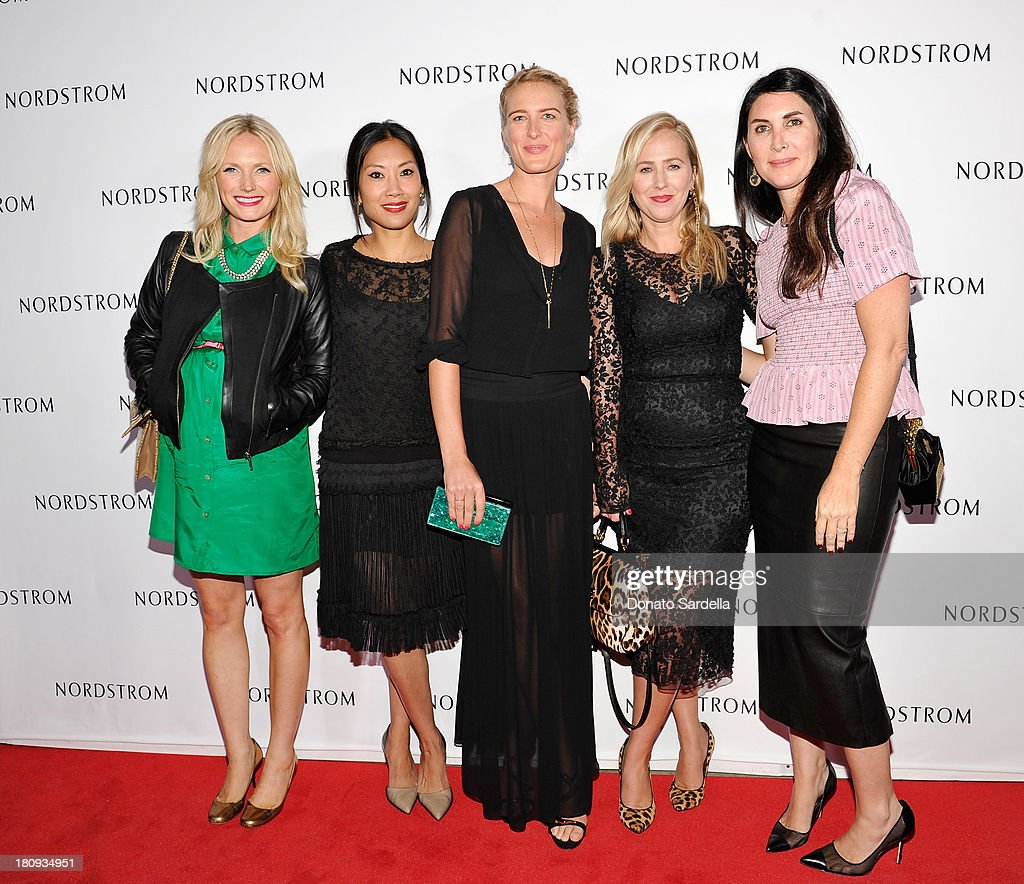 Emily Anderson, Melissa Magsaysay, Anita Patrickson, Cher Coulter and Este Stanley attend Nordstrom store opening gala at The Americana at Brand on September 17, 2013 in Glendale, California.