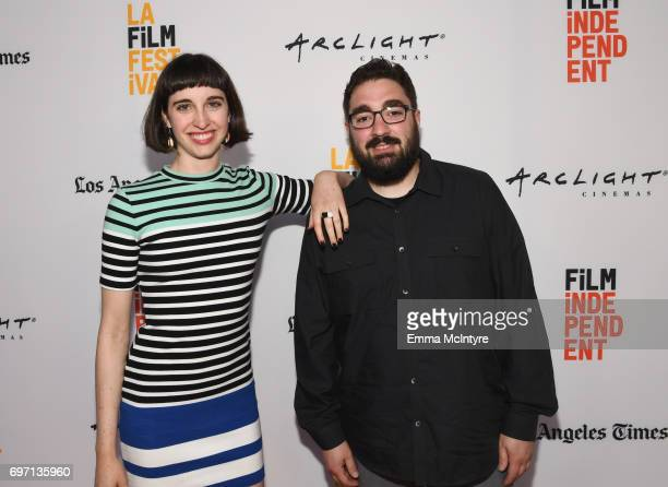 Emily Ann Hoffman and Russell Peborde attend the 'Izzy Gets The Fuck Across Town' and 'Ok Call Me Back' Premieres during the 2017 Los Angeles Film...