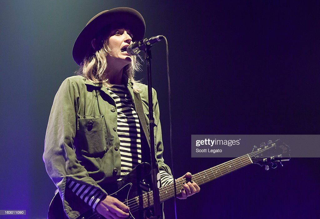 Emily Armstrong of Dead Sara performs at Joe Louis Arena on March 2, 2013 in Detroit, Michigan.