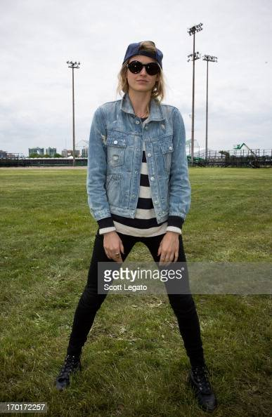 Emily Armstrong of Dead Sara poses backstage during the 2013 Orion Music More Festival at Belle Isle Park on June 8 2013 in Detroit Michigan