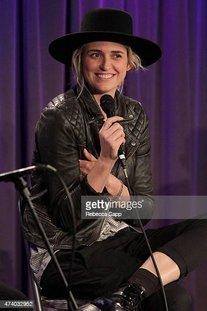 Emily Armstrong of Dead Sara speaks onstage at Homegrown Dead Sara at The GRAMMY Museum on May 19 2015 in Los Angeles California