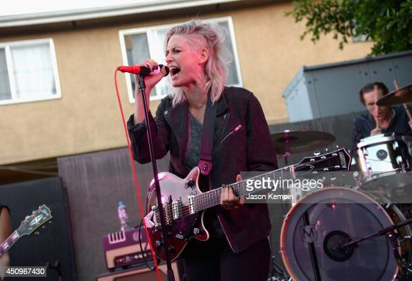 Emily Armstrong of the band Dead Sara performs at the Marc By Marc Jacobs Fall/Winter 2014 Preview at Marc Jacobs on June 20 2014 in Los Angeles...