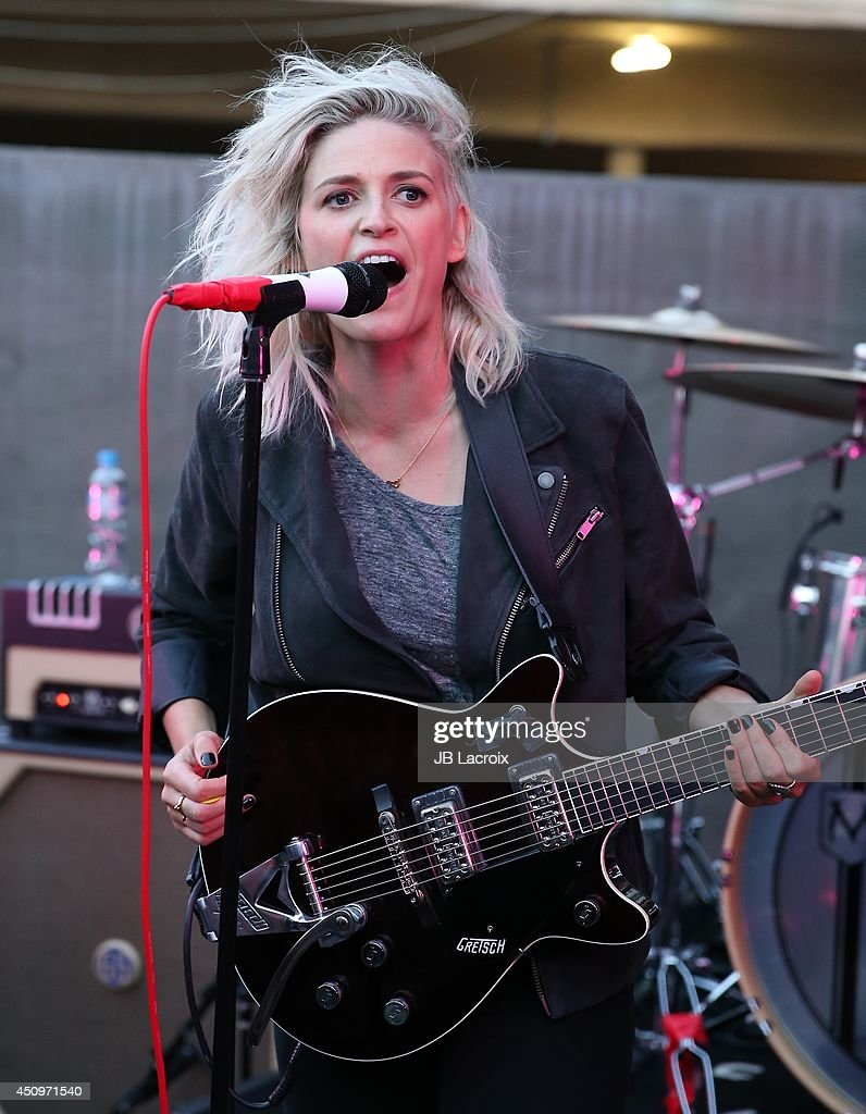 Emily Armstrong of the Dead Sara performs at the Marc By Marc Jacobs Fall/Winter 2014 Preview on June 20 2014 in Los Angeles California