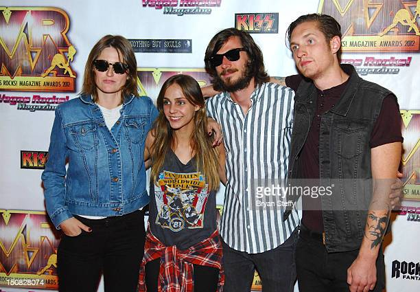 Emily Armstrong Siouxsie Medley Sean Friday and Chris Null of Dead Sara arrive at the Vegas Rocks Magazine Awards Show on August 26 2012 in Las Vegas...
