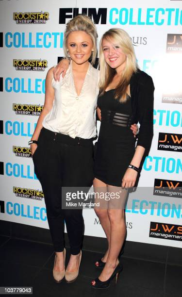Emily Atack and Emily Head attend drinks reception to celebrate the unveiling of FHM Collections magazine at Movida on September 1 2010 in London...