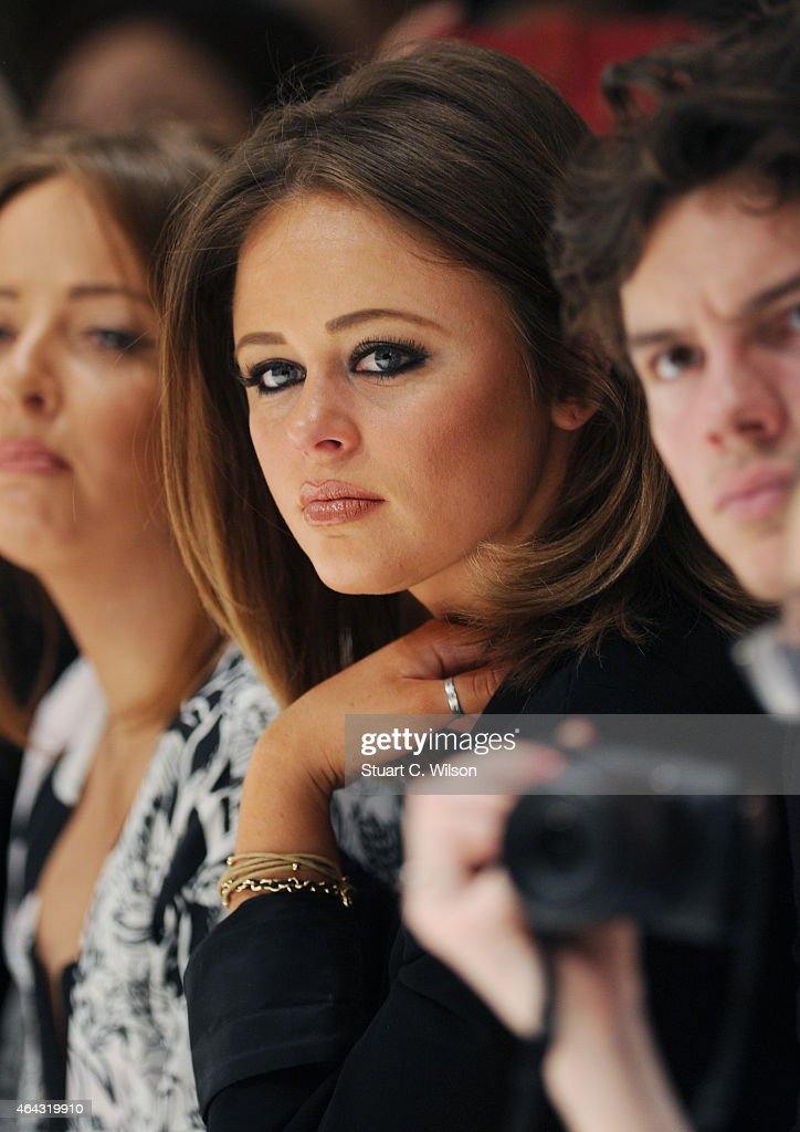 Emily Atack attends the C.J Yao show during London Fashion Week Fall/Winter 2015/16 at on February 24, 2015 in London, England.