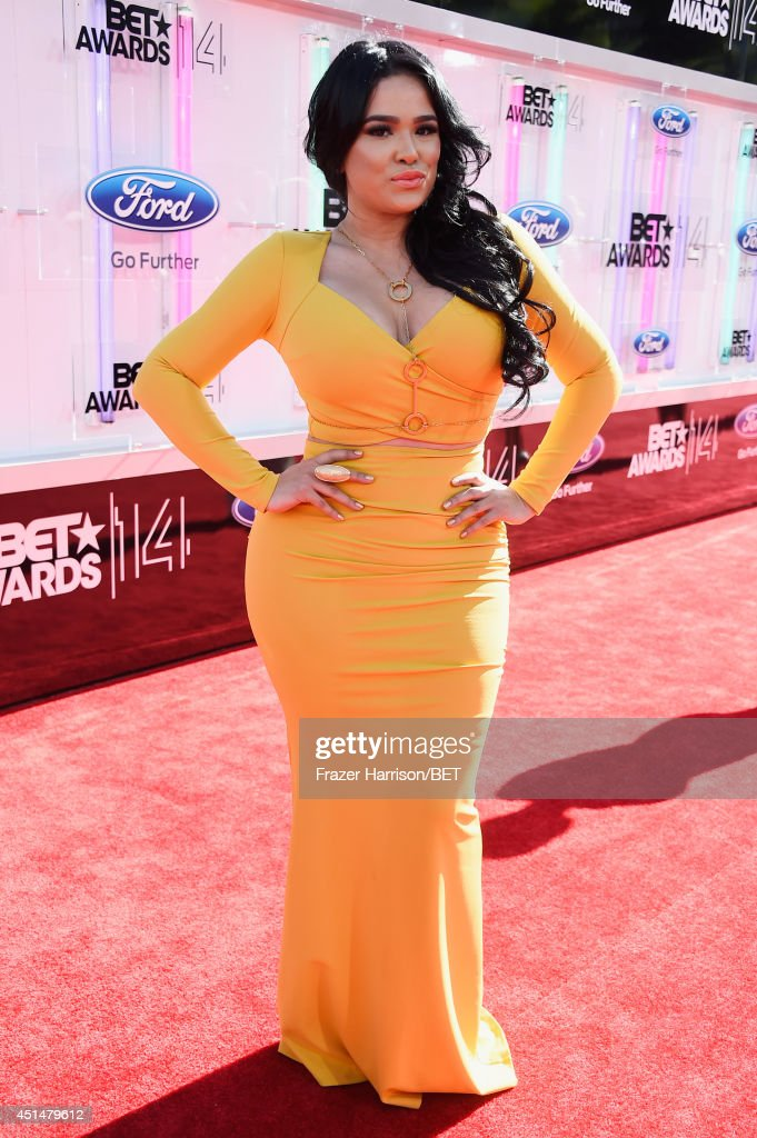 Emily B attends the BET AWARDS '14 at Nokia Theatre L.A. LIVE on June 29, 2014 in Los Angeles, California.