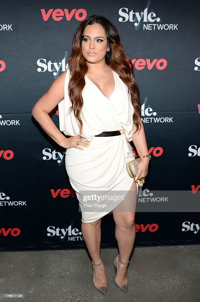 Emily B attends the VEVO and Styled To Rock Celebration Hosted by Actress, Model and 'Styled to Rock' Mentor Erin Wasson with Performances by Bridget Kelly & Cazzette on September 5, 2013 in New York City.