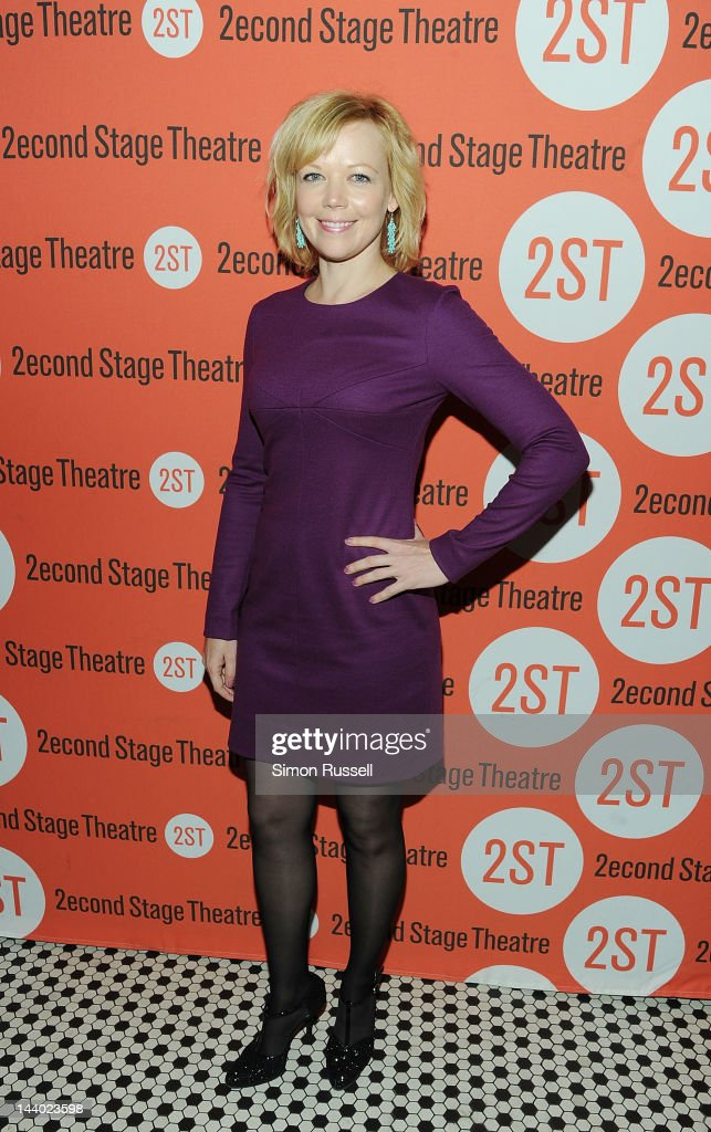 Emily Bergl attends 'Lonely I'm Not' Off Broadway Opening Night at HB Burger on May 7, 2012 in New York City.