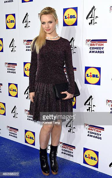 Emily Berrington attends the British Comedy Awards at Fountain Studios on December 16 2014 in London England