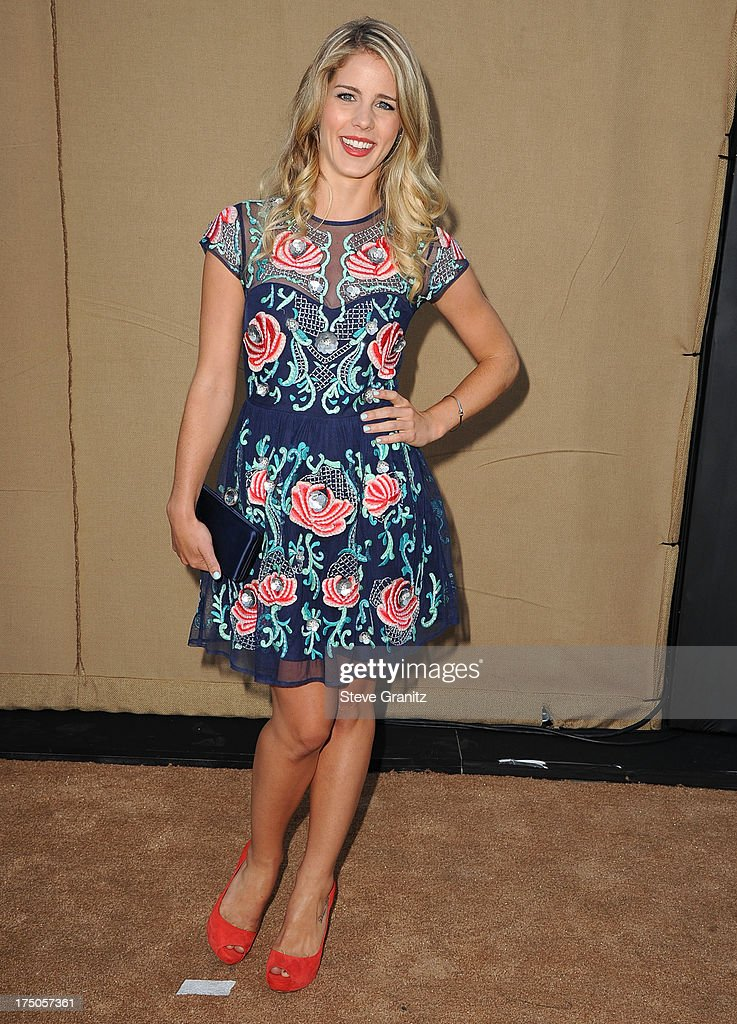 Emily Bett Rickards arrives at the Television Critic Association's Summer Press Tour - CBS/CW/Showtime Party at 9900 Wilshire Blvd on July 29, 2013 in Beverly Hills, California.