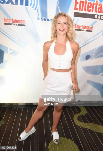 Emily Bett Rickards attends SiriusXM's Entertainment Weekly Radio Channel Broadcasts From Comic Con 2017 at Hard Rock Hotel San Diego on July 22 2017...