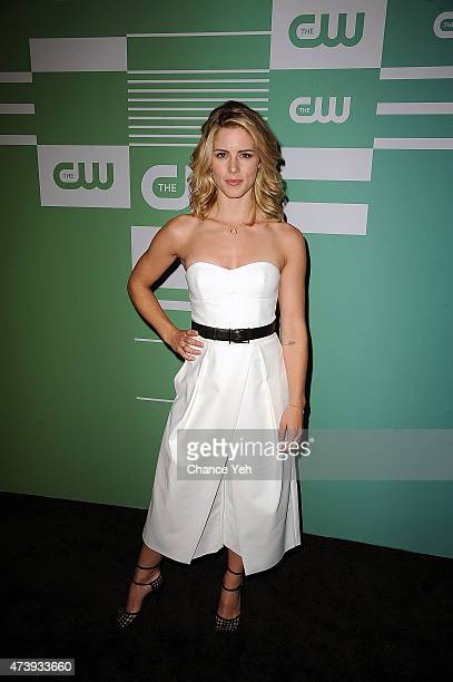 Emily Bett Rickards attends The CW Network's New York 2015 Upfront Presentation at The London Hotel on May 14 2015 in New York City