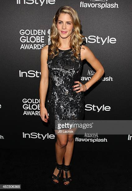 Emily Bett Rickards attends The Hollywood Foreign Press Association And InStyle 2014 Miss Golden Globe Announcement/Celebration at Fig Olive Melrose...