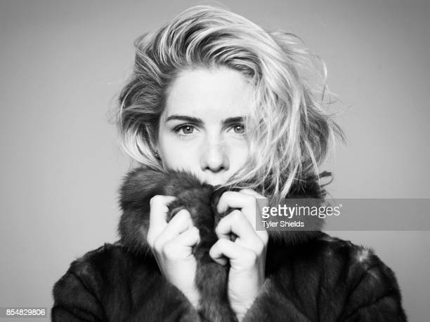 Emily Bett Rickards is photographed for Self Assignment on January 9 2016 in Los Angeles California