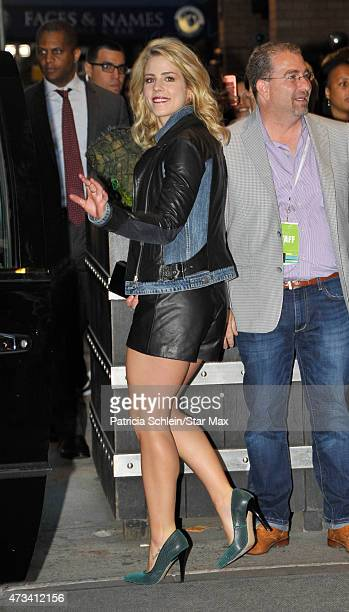 Emily Bett Rickards is seen on May 14 2015 in New York City