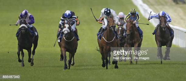 Emily Blake ridden by Johnny Murtagh goes on to win the Tri Equestrian Stakes during the Boylesportscom Irish 2000 Guineas Day at Curragh Racecourse...