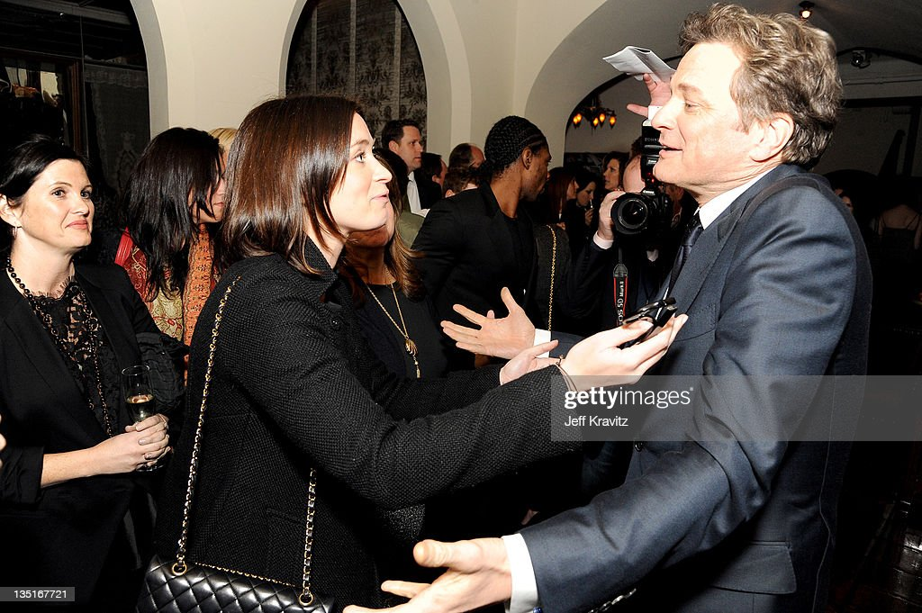 <a gi-track='captionPersonalityLinkClicked' href=/galleries/search?phrase=Emily+Blunt&family=editorial&specificpeople=213480 ng-click='$event.stopPropagation()'>Emily Blunt</a> and Colin Firth attends the after party for the Los Angeles premiere of 'Tinker, Tailor, Soldier, Spy' at ArcLight Cinemas Cinerama Dome on December 6, 2011 in Hollywood, California.