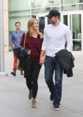Emily Blunt and John Krasinski are seen on January 04 2014 in Los Angeles California